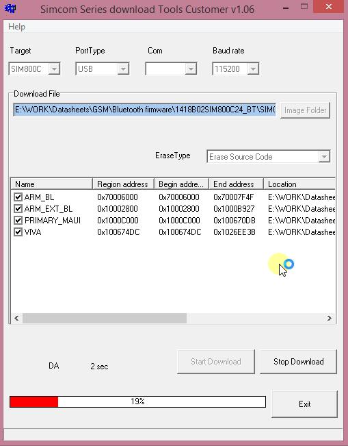آپدیت firmware ماژول sim800