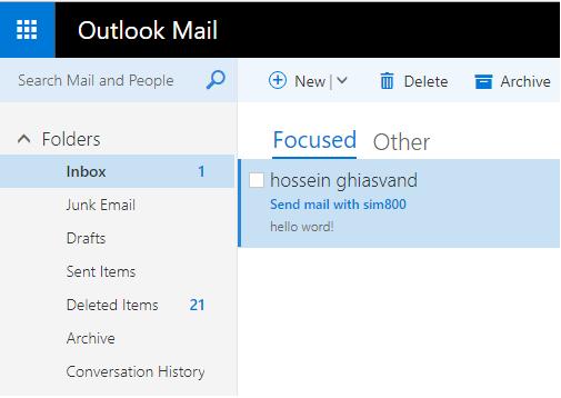ارسال email با ماژول sim800