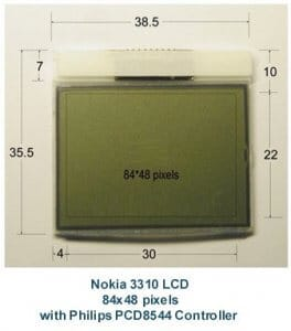 lcd nokia 5110