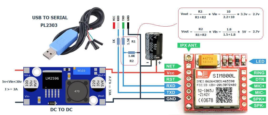 اتصال ماژول SIM800 به اینترنت
